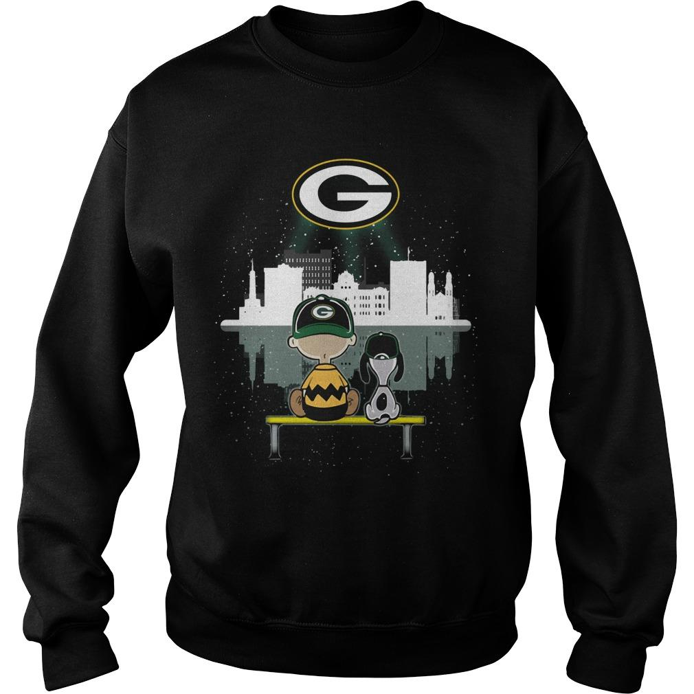 Charlie And Snoopy Green Bay Packer Sweater