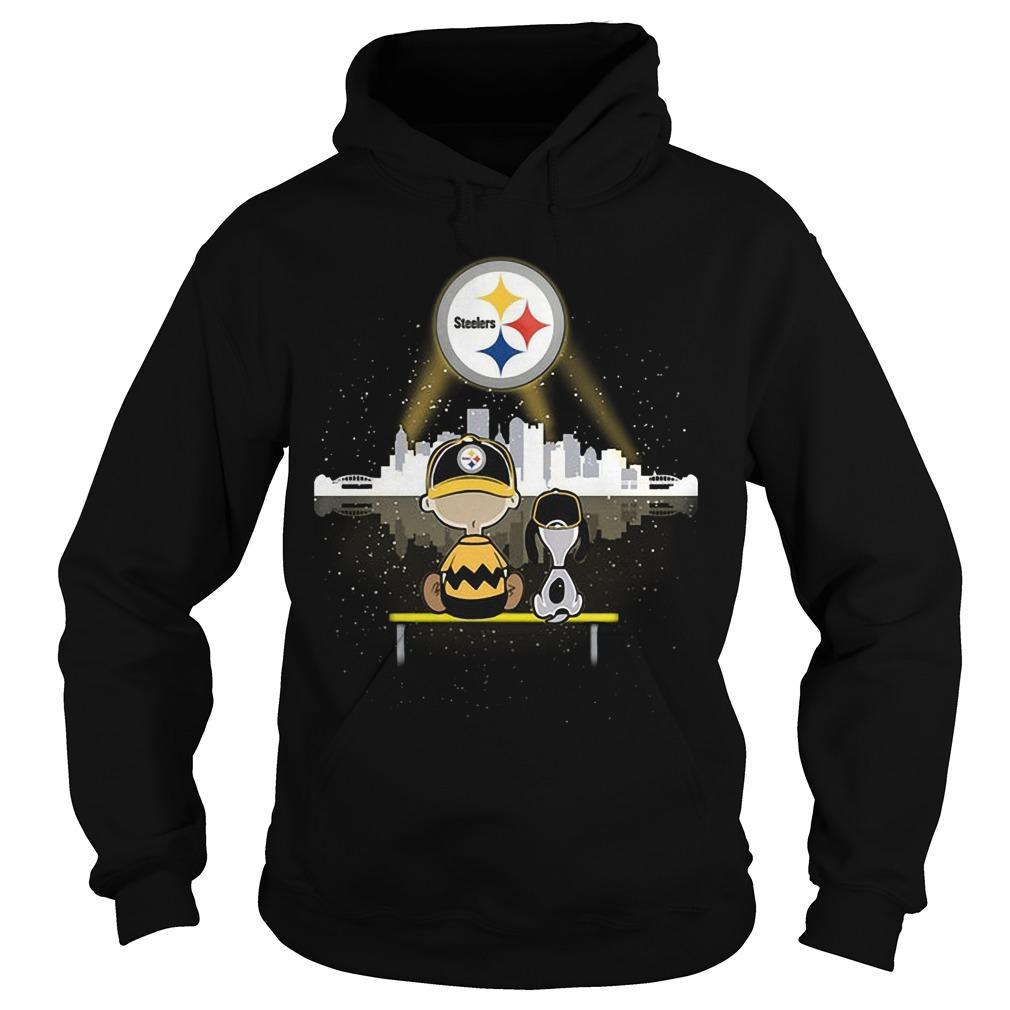 Charlie And Snoopy Pittsburgh Steelers Hoodie