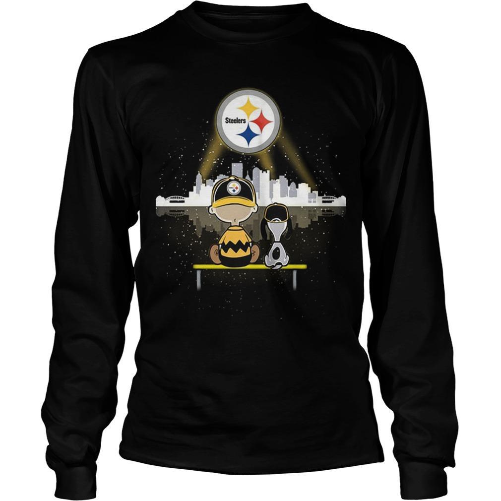 Charlie And Snoopy Pittsburgh Steelers Longsleeve