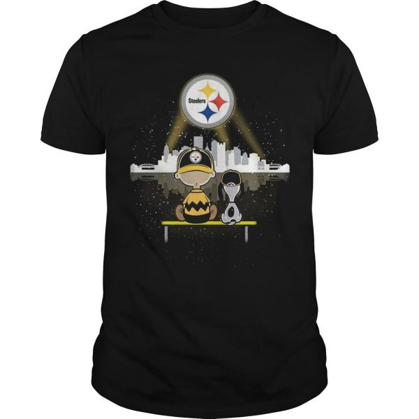 Charlie And Snoopy Pittsburgh Steelers
