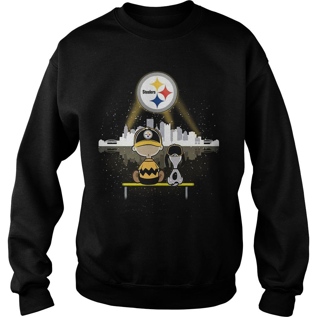 Charlie And Snoopy Pittsburgh Steelers Sweater