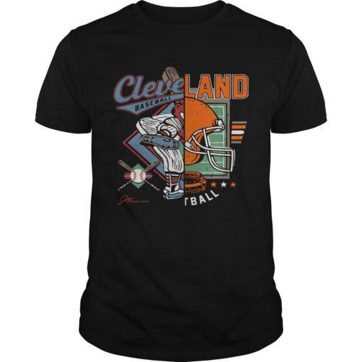 Cleveland Baseball Football Split