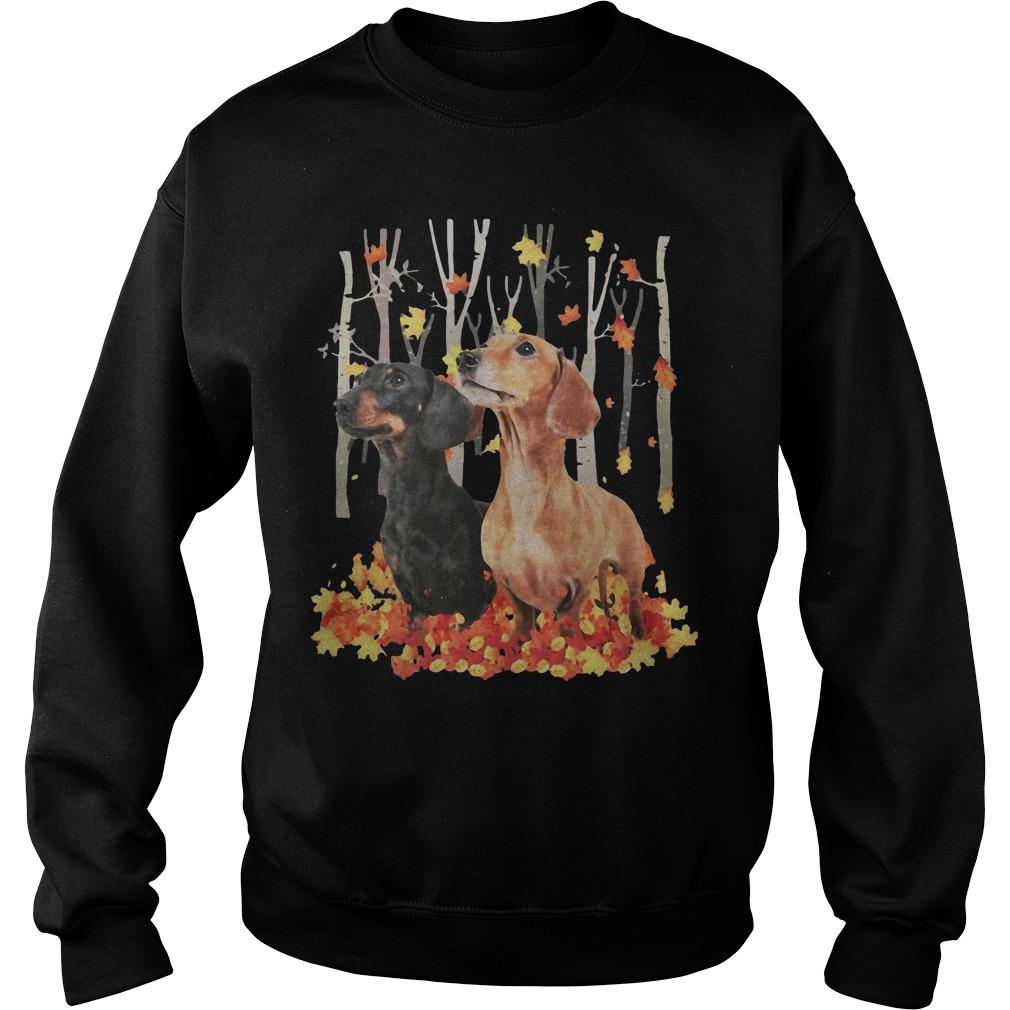 Dachshund Autumn Forest Sweater