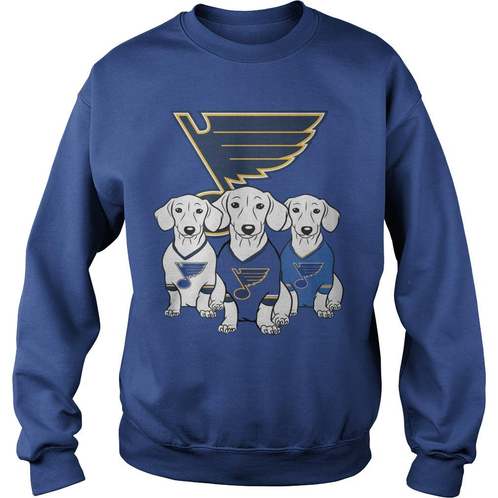 Dachshund St Louis Blues Sweater