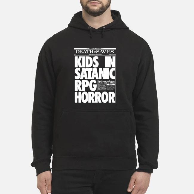 Death Saves Kids In Satanic Rpg Horror Hoodie