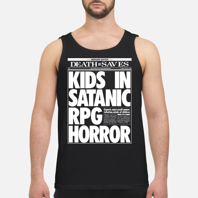 Death Saves Kids In Satanic Rpg Horror Tank Top