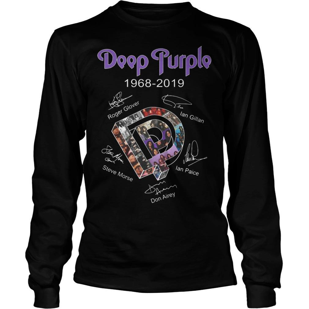 Deep Purple 1968 2018 Signatures Longsleeve