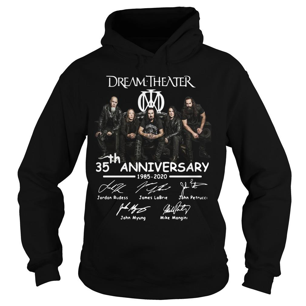 Dream Theater 35th Anniversary 1985 2020 Signatures Hoodie