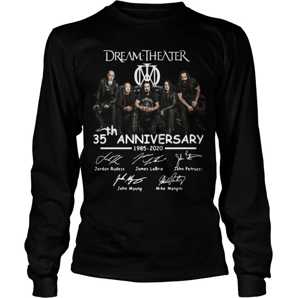 Dream Theater 35th Anniversary 1985 2020 Signatures Longsleeve