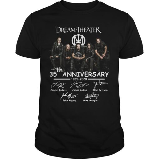 Dream Theater 35th Anniversary 1985 2020 Signatures