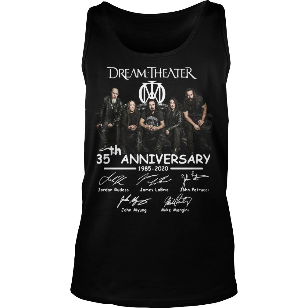 Dream Theater 35th Anniversary 1985 2020 Signatures Tank Top