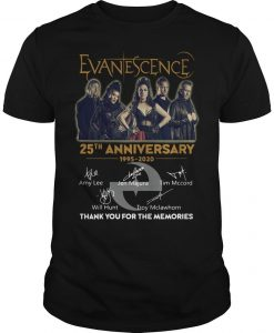 Evanescence 25th Anniversary 1995 2020 Thank You For The Memories