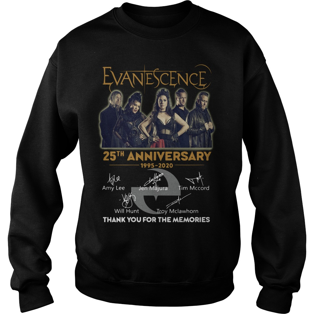 Evanescence 25th Anniversary 1995 2020 Thank You For The Memories Sweater
