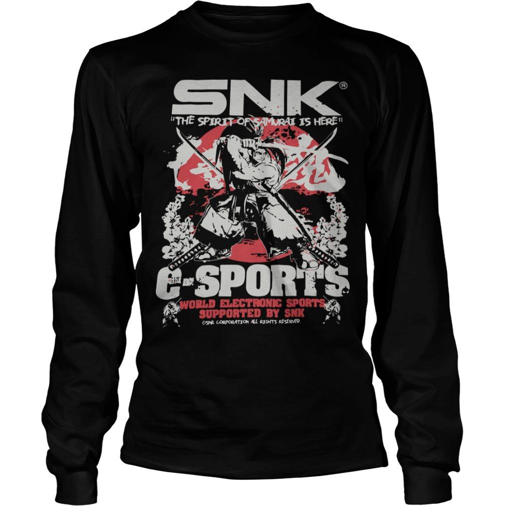 Evo 2019 Snk The Spirit Of Samurai Is Here Esports Longsleeve