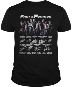 Fast And Furious Thank You For The Memories Signatures