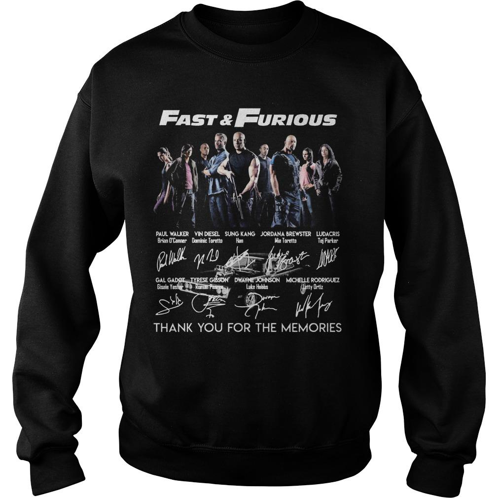 Fast And Furious Thank You For The Memories Signatures Sweater