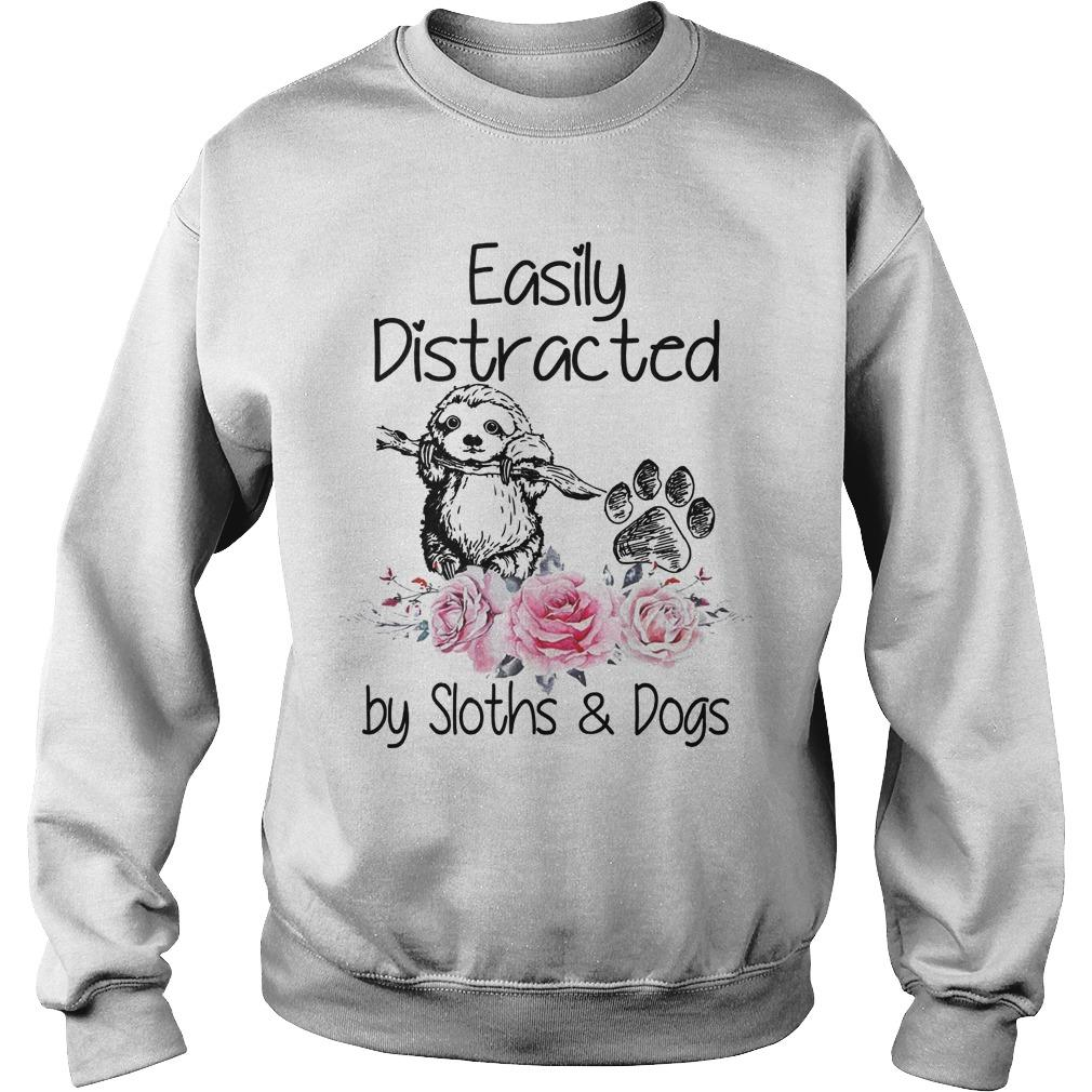 Flower Easily Distracted By Sloths And Dogs Sweater