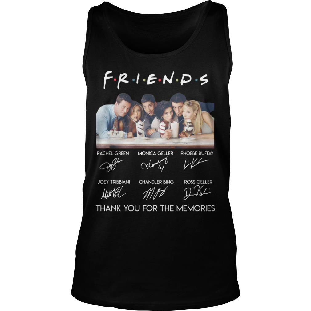 Friends Tv Show Thank You For The Memories Tank Top