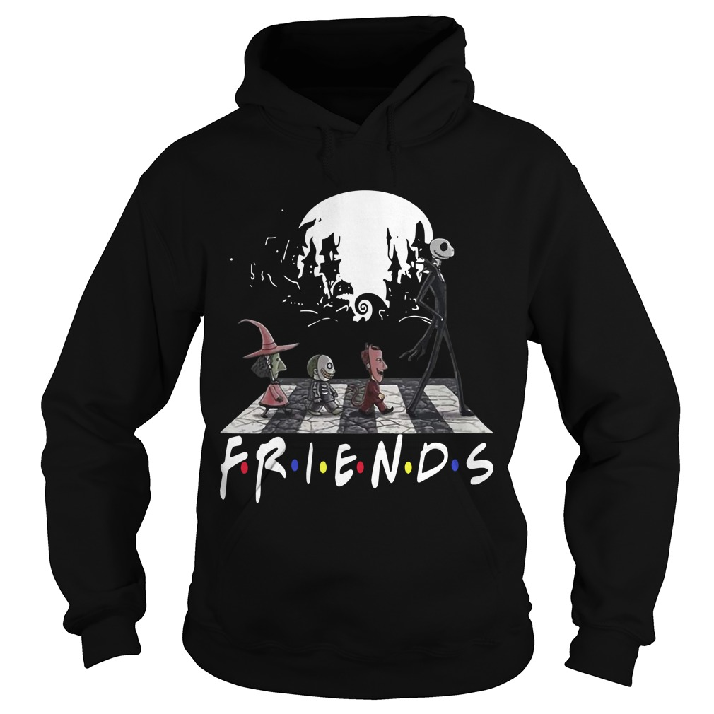 Friends Tv Show The Nightmare Before Christmas Abbey Road Hoodie