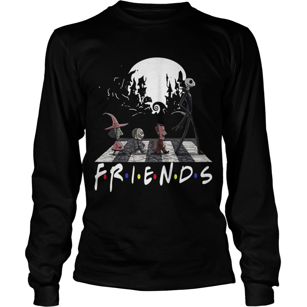 Friends Tv Show The Nightmare Before Christmas Abbey Road Longsleeve