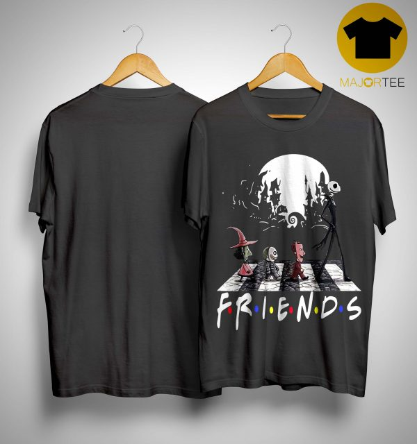 Friends Tv Show The Nightmare Before Christmas Abbey Road Shirt
