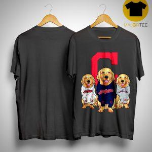 Golden Retriever Cleveland Indians Shirt