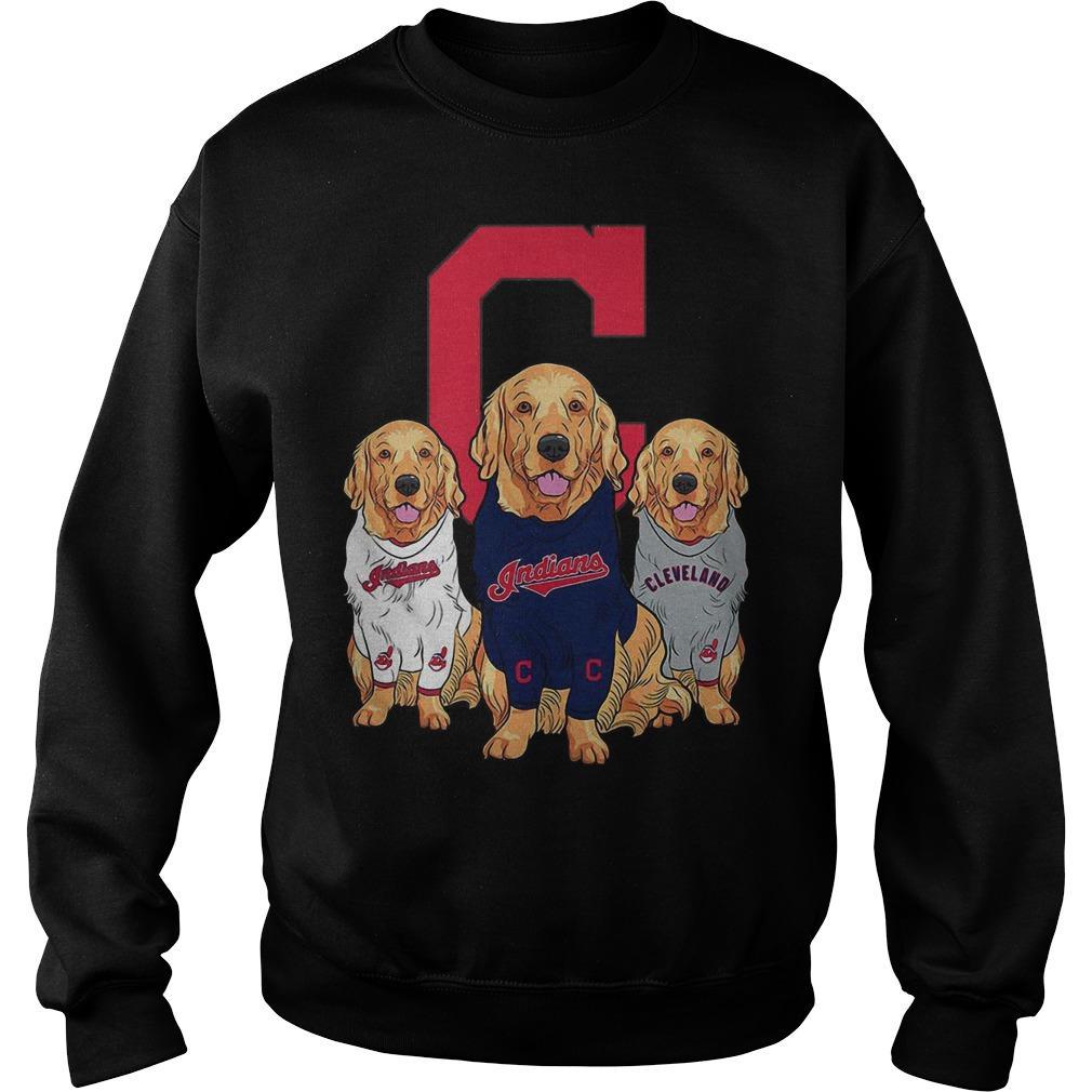 Golden Retriever Cleveland Indians Sweater