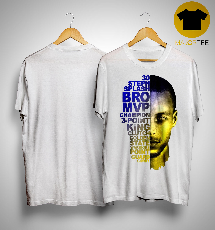 new style 2278d c3872 Golden State Warriors Stephen Curry 30 Steph Splash Shirt