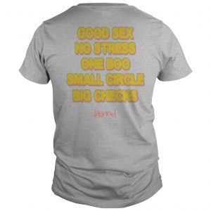 Good Sex No Stress One Boo No Ex Small Circle Big Checks Shirt