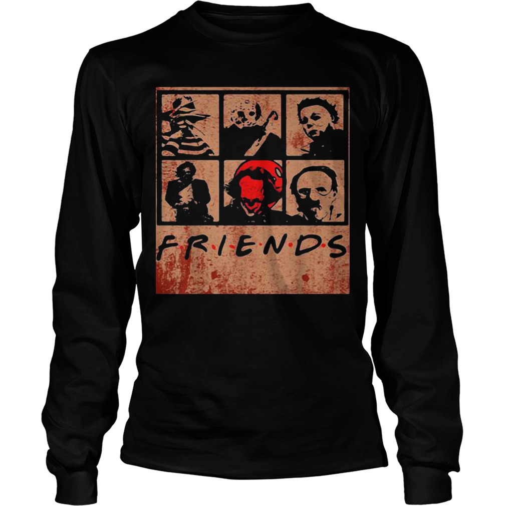 Halloween Scary Friends Horror Movie Creepy Longsleeve