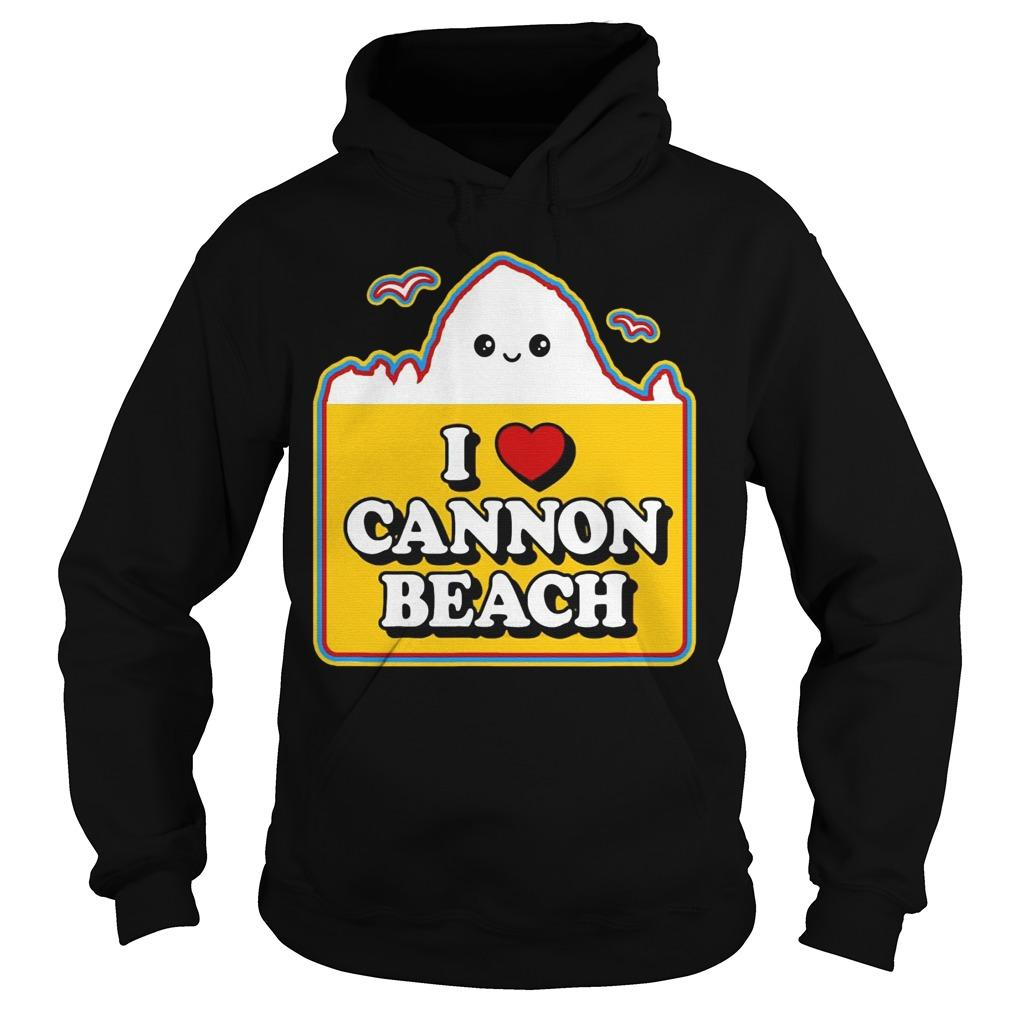 Haystack I Love Cannon Beach Hoodie