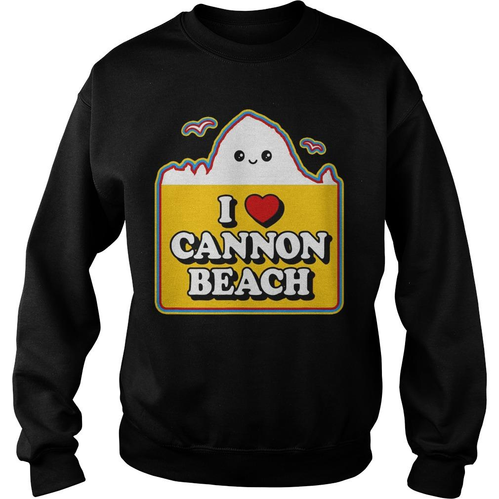 Haystack I Love Cannon Beach Sweater