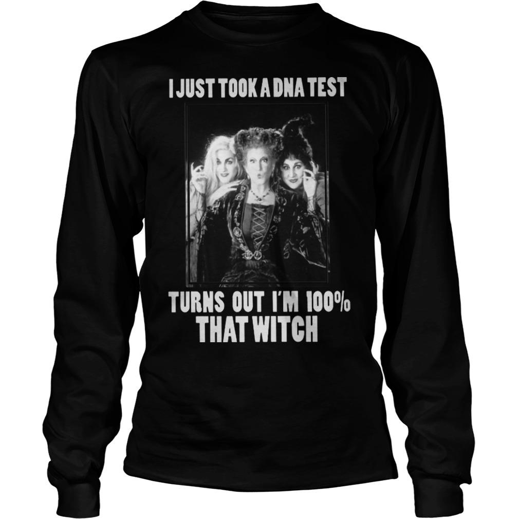 Hocus Pocus I Just Took A Dna Test Turns Out I'm 100% That Witch Longsleeve
