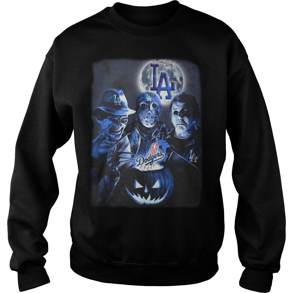 Horror Characters Los Angeles Dodgers Sweater