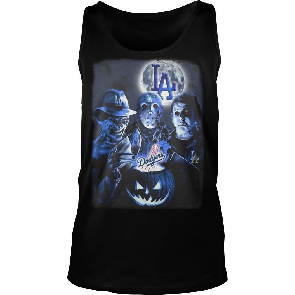 Horror Characters Los Angeles Dodgers Tank Top