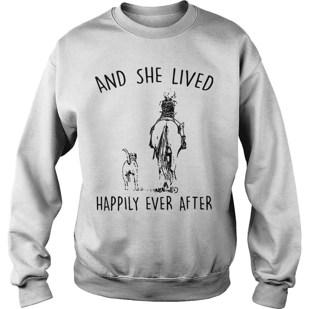 Horse And Dog And She Lived Happily Ever After Sweater