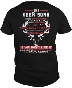 I'm A Deer Sona I Like To Eat Hamburgers I Own A Computer Shirt