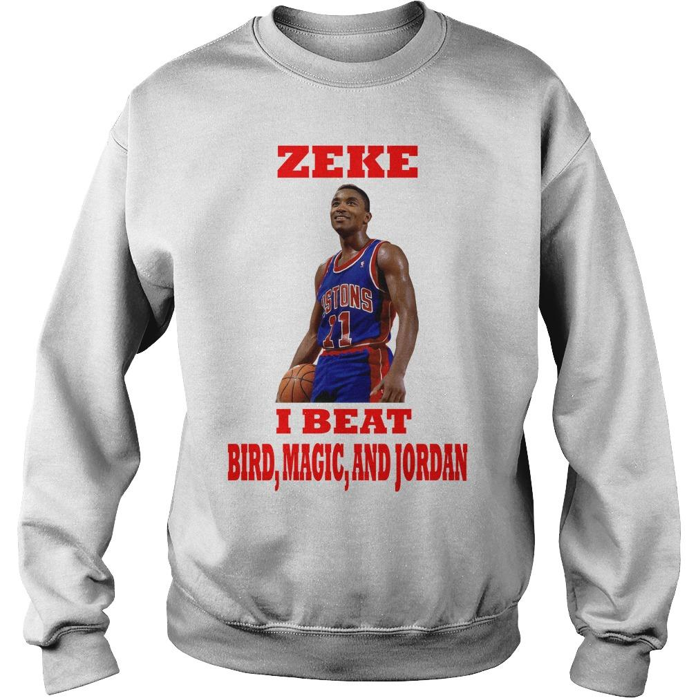 Isiah Thomas Zeke I Beat Bird Magic And Jordan Sweater