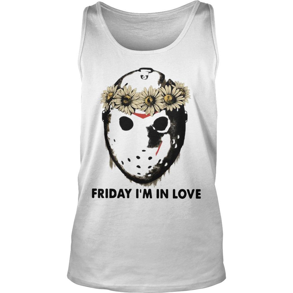 Jason Voorhees Friday I'm In Love Tank Top