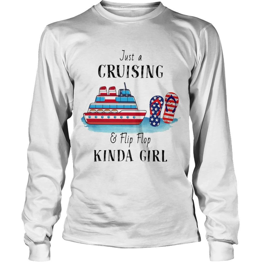 Just A Cruising And Flip Flop Kinda Girl Longsleeve
