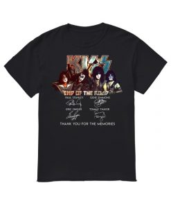 Kiss End Of The Road Thank You For The Memories Shirt