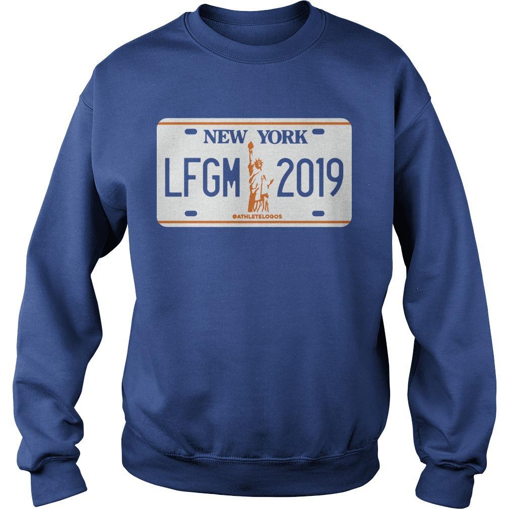 LFGM License Plate New York 2019 Sweater
