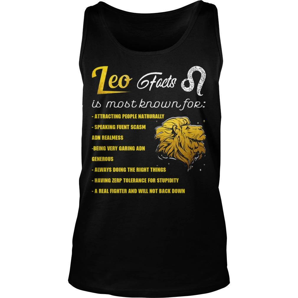 Leo Feets Is Most Known For Attracting People Naturally Tank Top