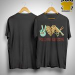 Leopard Print Peace Love Hairstyling Shirt.jpg