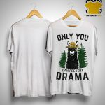 Llama Camping Only You Can Prevent Drama Shirt