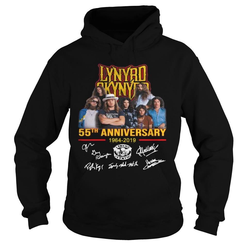 Lynyrd Skynyrd 55th Anniversary 1964 2019 Signatures Hoodie