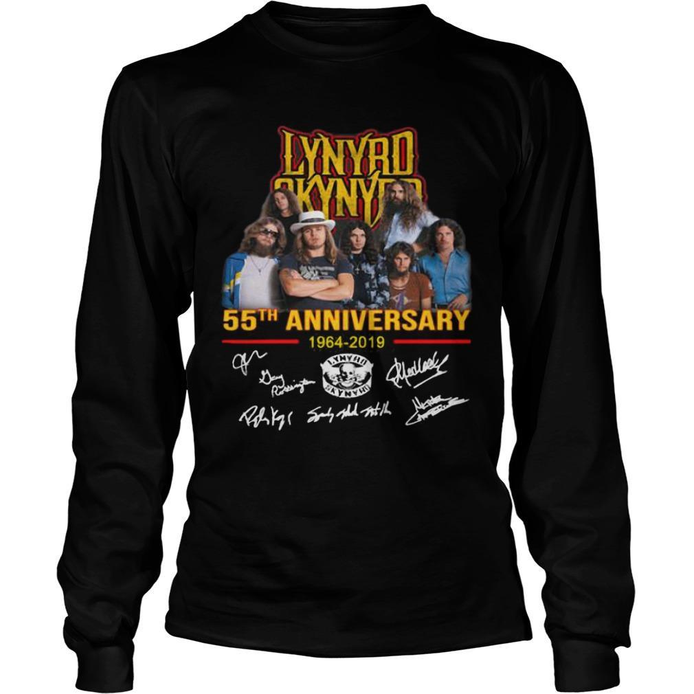 Lynyrd Skynyrd 55th Anniversary 1964 2019 Signatures Longsleeve