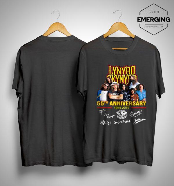 Lynyrd Skynyrd 55th Anniversary 1964 2019 Signatures Shirt