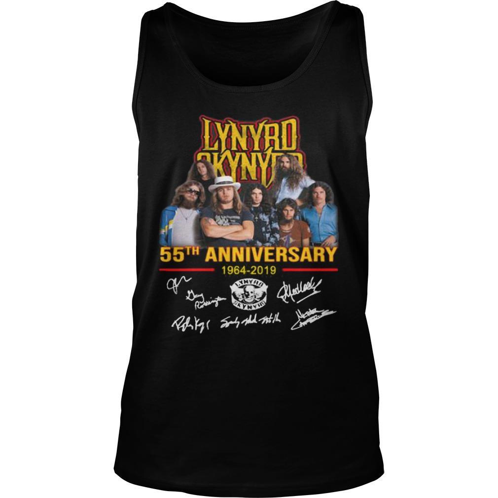 Lynyrd Skynyrd 55th Anniversary 1964 2019 Signatures Tank Top