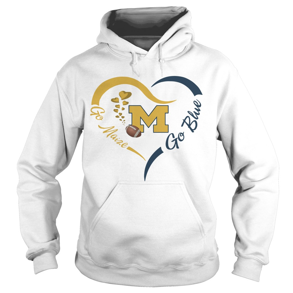 Michigan Wolverines Go Maize Go Blue Hoodie